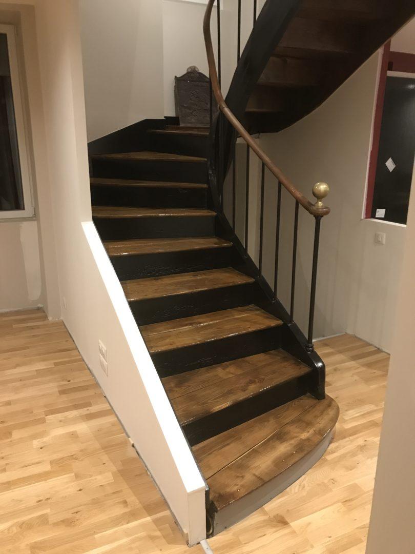 Escalier Finition Vitrification - Escalier